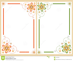 Halloween Invitation Borders by Floral Border Frame Set Royalty Free Stock Photos Image 13653538