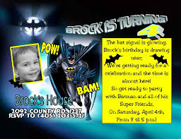 batman birthday invitation cards batman invitations card templates