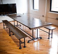 dining room winning contemporary reclaimed wood dining table