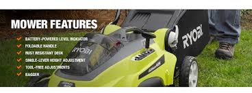 ryobi 16 in 40 volt lithium ion cordless walk behind battery push