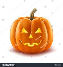 scary pumpkin jackolantern creepy toothy smile stock vector