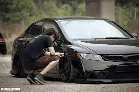 stanced u0026 flush honda civic sedan 6 black civic pinterest