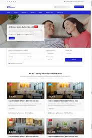 real estate agency responsive website template 65145