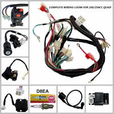 full wiring harness loom 150 200 250 300cc atv quad buggy electric