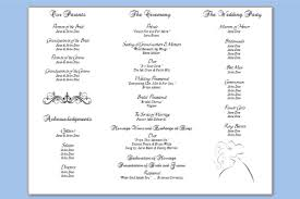 tri fold program three column wedding program template wedding programs templates
