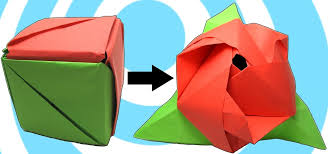 how to make an origami magic rose cube origami wonderhowto