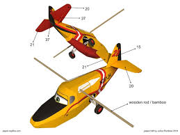 dipper disney planes fire rescue paper craft