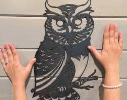 Home Decor Metal Wall Art Metal Owl Wall Art Etsy