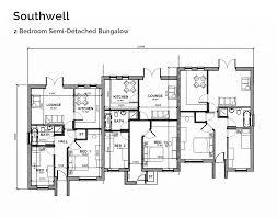 semi detached bungalow house plans bungalow santa monica
