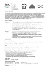 Free Sample Professional Resume by Chef Resumes Examples Resume Template For Chef Chef Resume