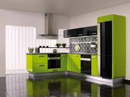 Yellow And Green Kitchen Ideas Green And Yellow Kitchen Ideas With Black Ceramic Floor And White