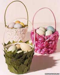 flowered easter baskets martha stewart