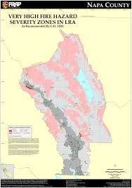 Map Of Napa Cal Fire Napa County Fhsz Map