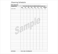 kitchen cleaning schedule template 18 free word pdf documents
