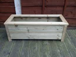 new handmade wooden planter trough garden planters by wooddeluxe