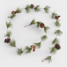 pinecone garland pine and pinecone garland world market