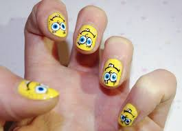 spongebob nail art design nail nails art