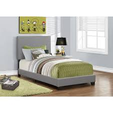 monarch grey faux leather twin size bed free shipping today