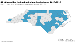 Nc Counties Map One Way To Think About Rural Urban Interdependence Carolina