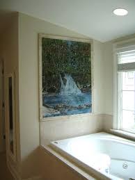 Waterfall Glass Tile Fused Glass Tile Waterfall Mural Designer Glass Mosaics Designer
