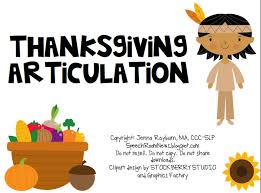 thanksgiving articulation speech room news