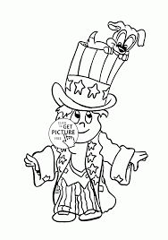 funny patriotic boy and puppy fourth of july coloring page for