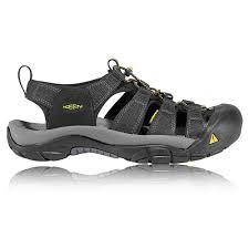 keen newport h2 mens black walking hiking outdoors summer shoes