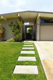 front yard landscaping century modern house colors images mid