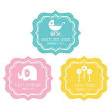 mod baby shower mod baby shower silhouette frame personalized labels baby shower