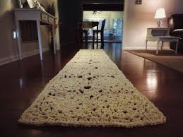 10 ft rectangle doily runner rug lace carpet long hallway floor