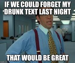 Drunk Text Meme - that would be great meme imgflip