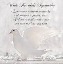 free sympathy card messages condolences with family