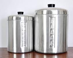 vintage kitchen canisters vintage kitchen canisters etsy
