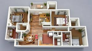 3d house floor plans 20 designs ideas for 3d apartment or one storey three bedroom floor