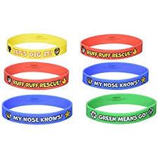 rubber bracelet made images Amscan paw patrol rubber bracelets 4 pieces made jpg