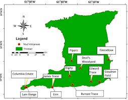 Map Of Trinidad Map Of Trinidad And Tobago Showing Natural Resources