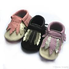 2016 new design feather mocckinghooshoes high quality baby