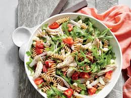 chicken pasta salad chicken and arugula pasta salad recipe myrecipes