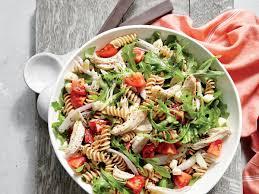 pasta salad chicken and arugula pasta salad recipe myrecipes