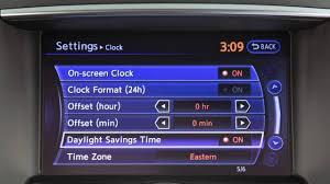 2016 infiniti qx50 setting the clock youtube