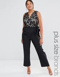 black plus size jumpsuits plus lace bodice jumpsuit black plus size