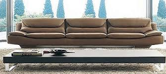 Italian Leather Sofa Oscar Senior By Calia Maddalena - 4 seat leather sofa