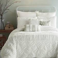 Twin White Comforter White Ruffle Bedding Full White Ruffle Lace Bedding Set Luxury