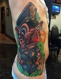 new tattoo pig as cop by josh woods black 13 tattoo