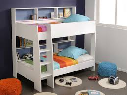 Bunk Bed Kid Wondrous Simpe White Bunk Beds For Boy Get Your Home Enjoyable
