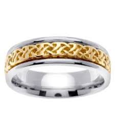 two tone mens wedding bands cambridge 14k two tone gold men s engraved wedding band free