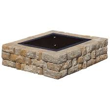 fireplace rumblestone fire pit for your outdoor hardscape