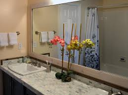 Frames For Mirrors In Bathrooms Chic Bathroom Mirrors Wood Frame How To Frame A Mirror Bathroom