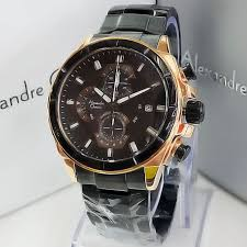 Jam Tangan Alexandre Christie Cowok alexandre christie ac6378 black rosegold elevenia