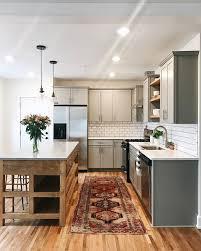 fresh affordable kitchen with rich vintage rug k i t c h e n
